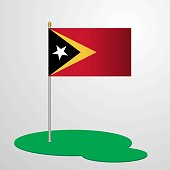 East Timor Flag Pole