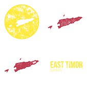 East Timor Grunge Retro Maps - Asia
