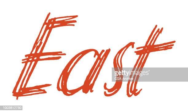 east - east stock illustrations