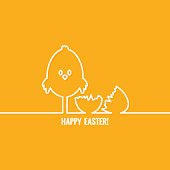 easter abstract line vector background