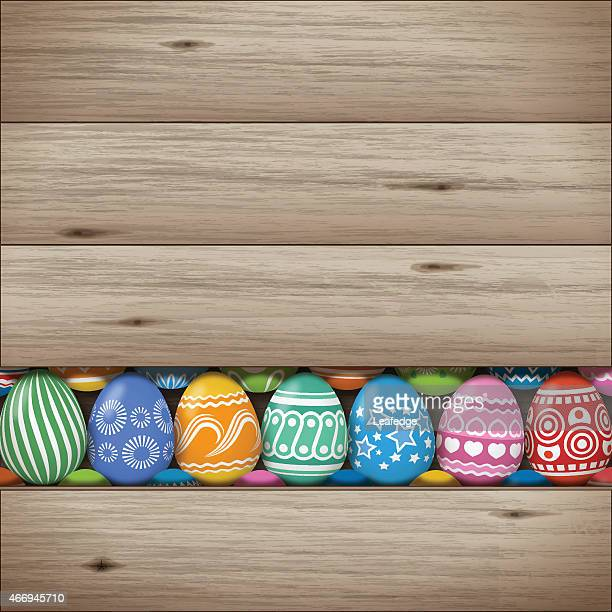 easter background[eggs and boards] - tree rings stock illustrations, clip art, cartoons, & icons