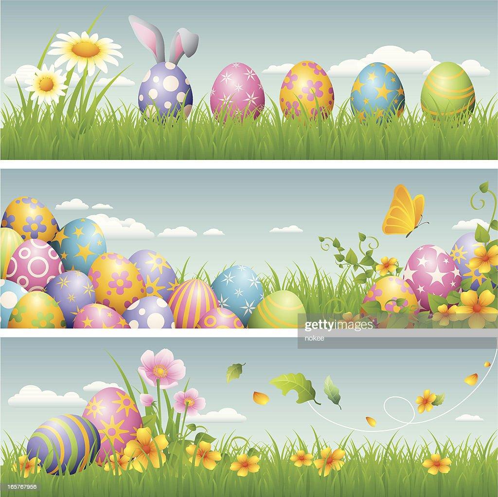 Easter banner : Vector Art