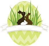Easter banner.Easter egg hunt.