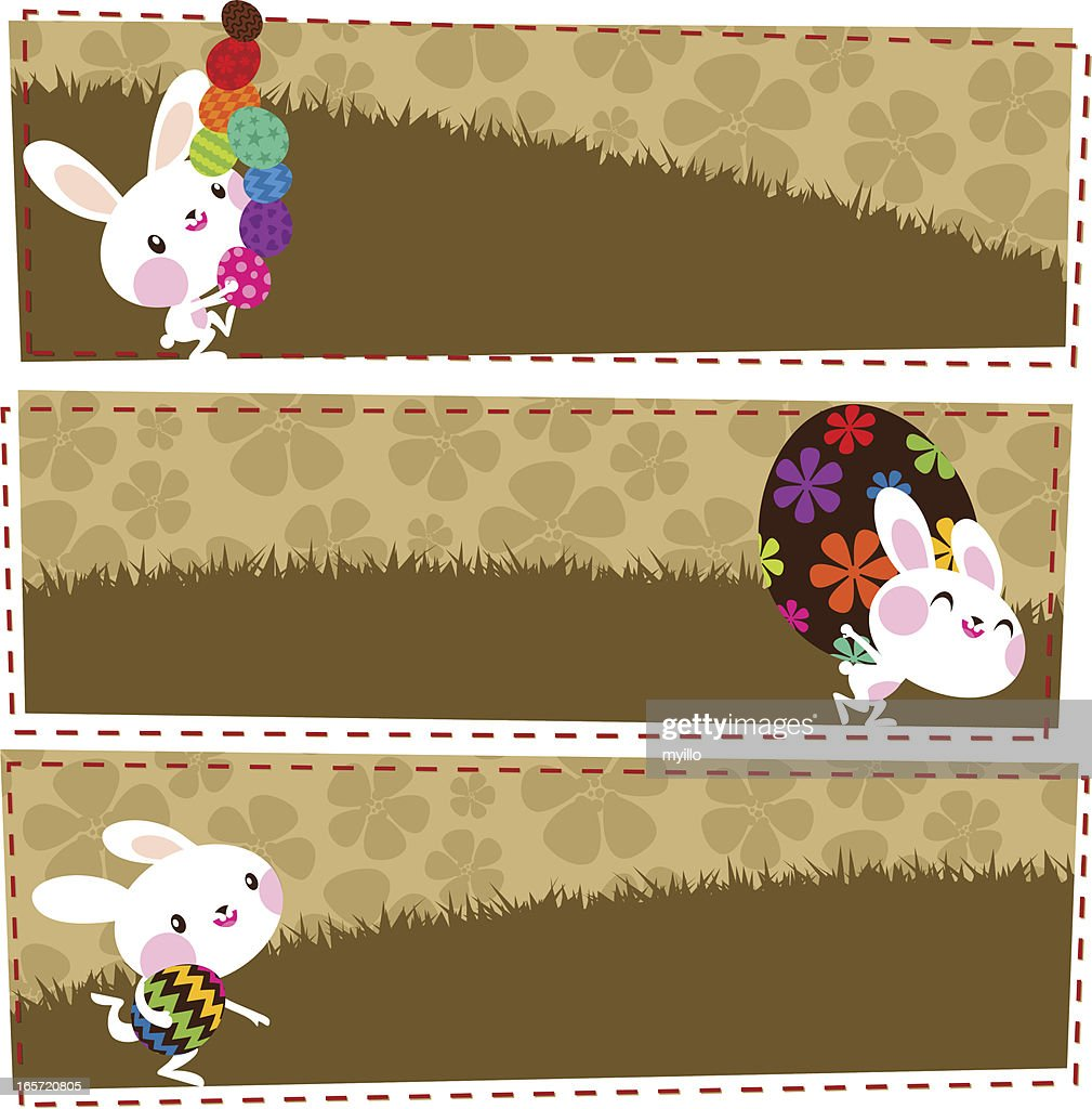 Easter banners : Vector Art