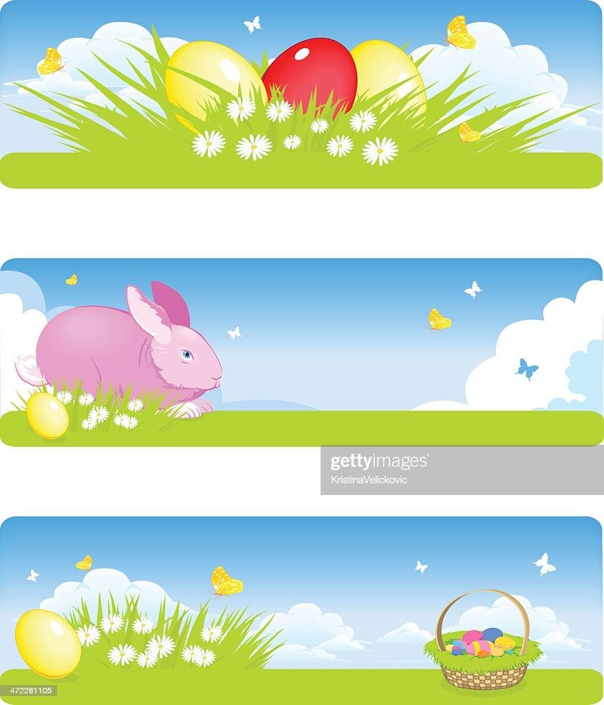 Easter banners : Vector Art