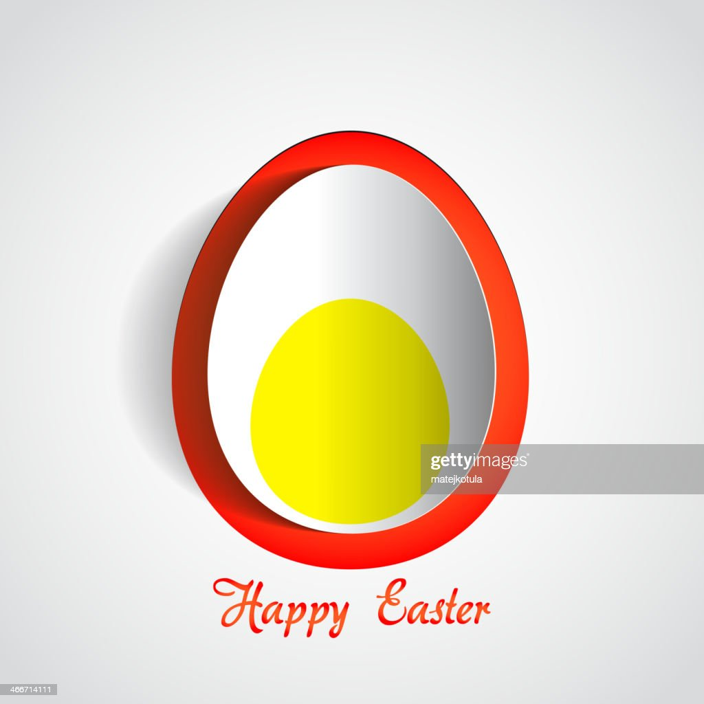 Easter boiled egg - Happy card