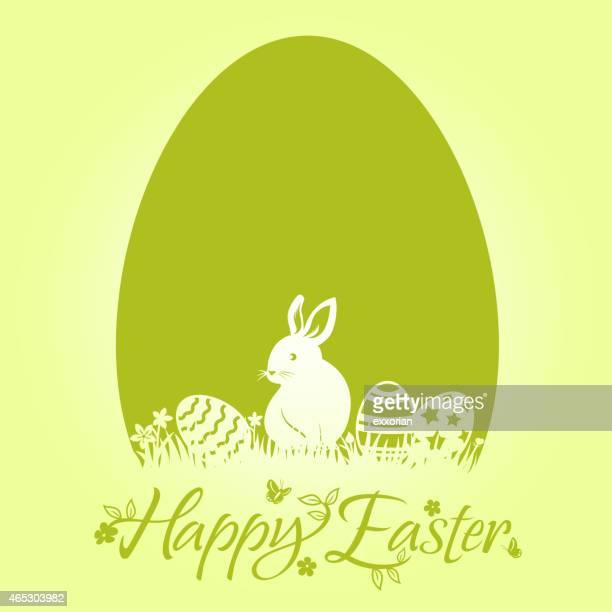 Easter Bunny Egg Design Element