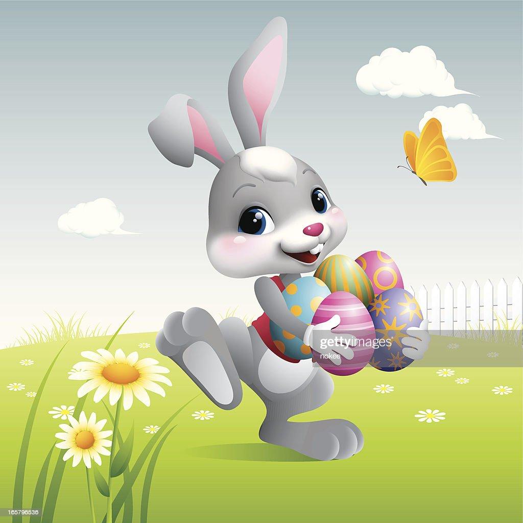 Easter Bunny - eggs : stock illustration
