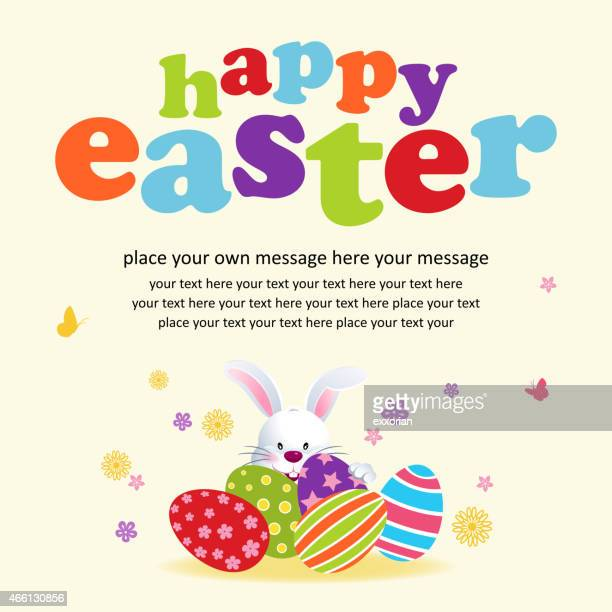 easter bunny hiding notice - easter bunny stock illustrations