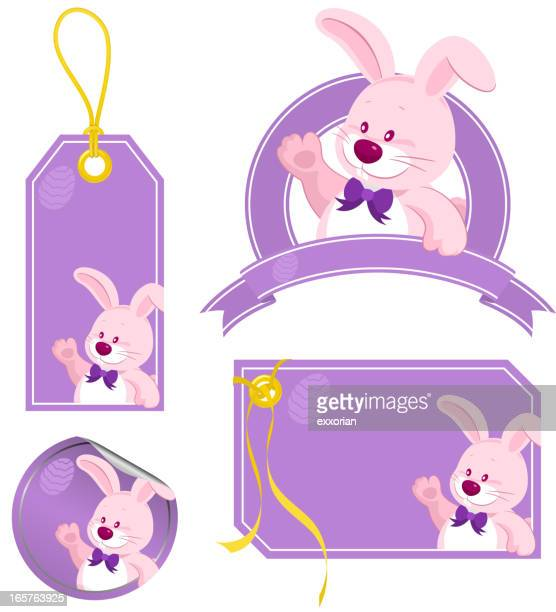 easter bunny price tags - labeling stock illustrations, clip art, cartoons, & icons