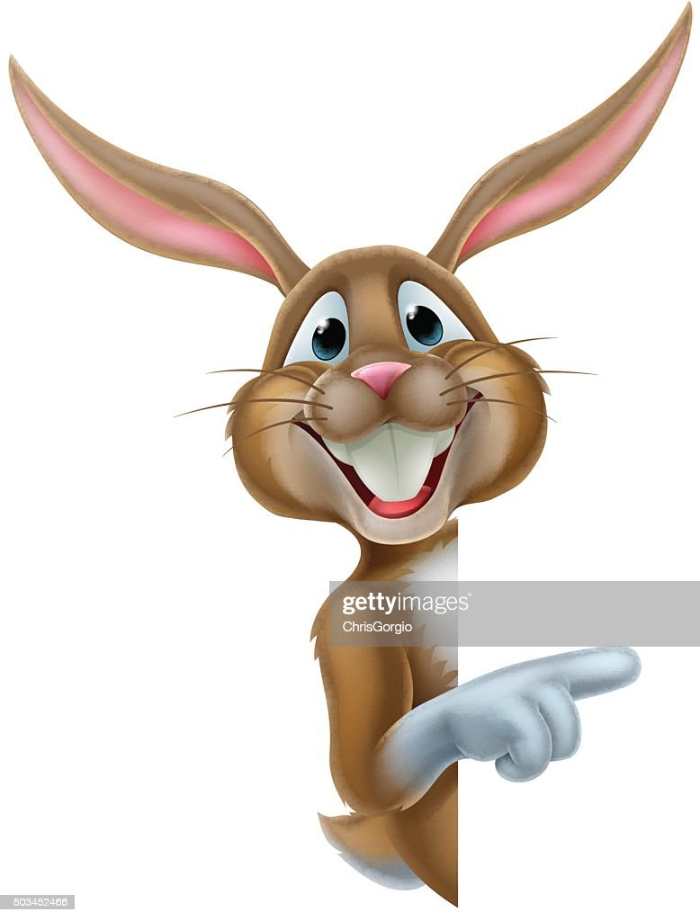 Easter Bunny Rabbit Pointing
