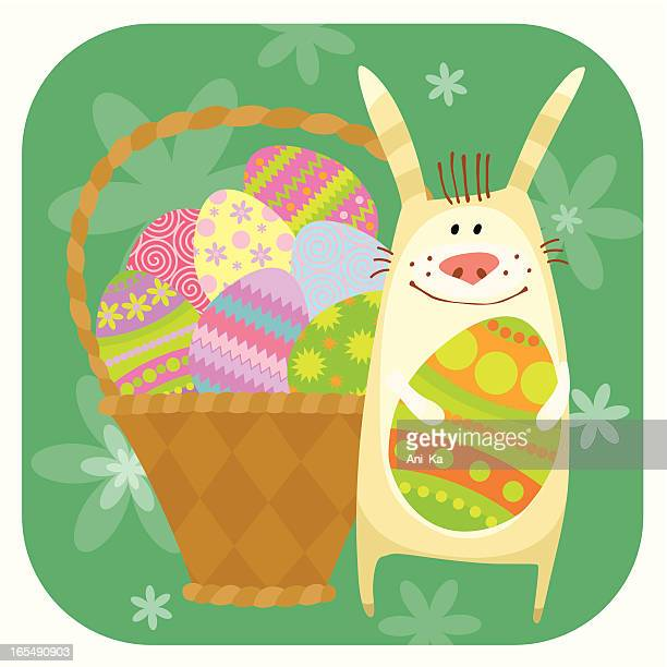 easter bunny - easter bunny stock illustrations