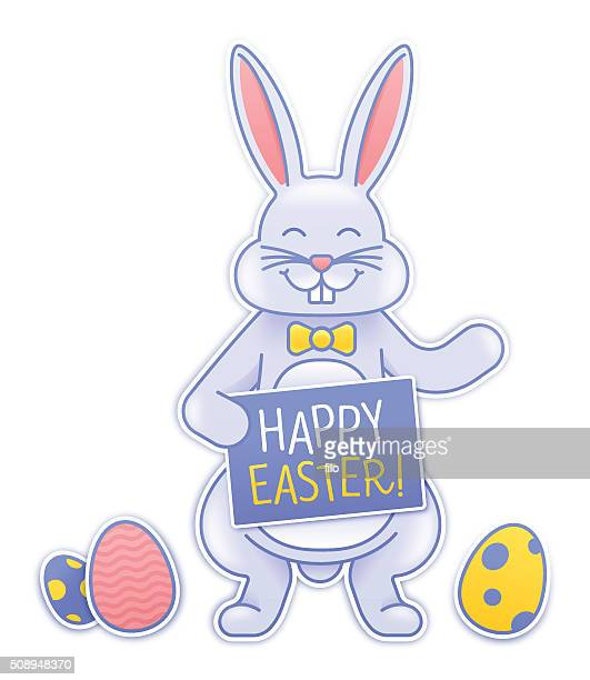 easter bunny - easter bunny costume stock illustrations, clip art, cartoons, & icons