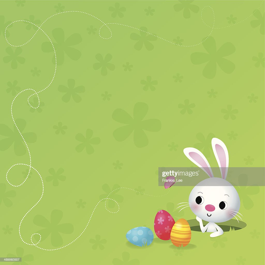Easter bunny with butterfly
