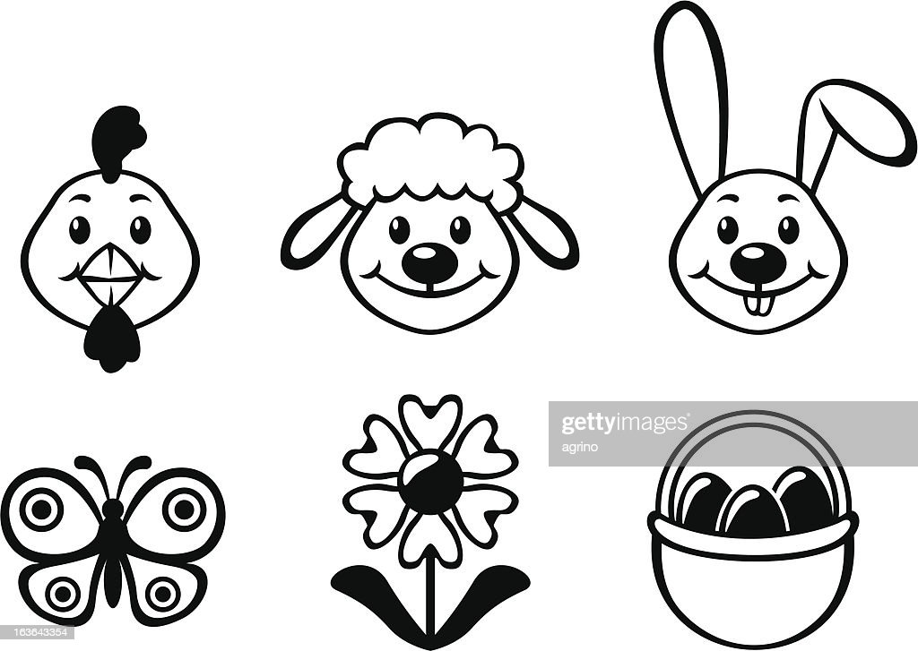 Easter cartoon set