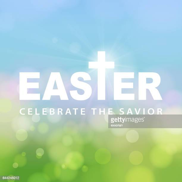 easter celebrate the savior - easter stock illustrations