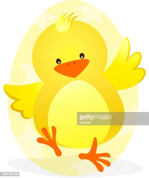 Easter Chick Dancing Cartoon
