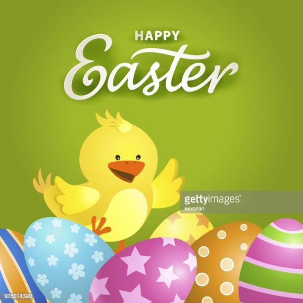 easter chick egg hunt - easter egg hunt stock illustrations, clip art, cartoons, & icons