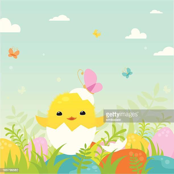 Ostern Huhn-Figur
