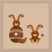 easter chocolate bunnies