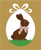 Easter chocolate rabbit
