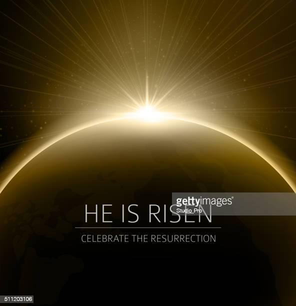 easter christian background resurrection - resurrection religion stock illustrations, clip art, cartoons, & icons