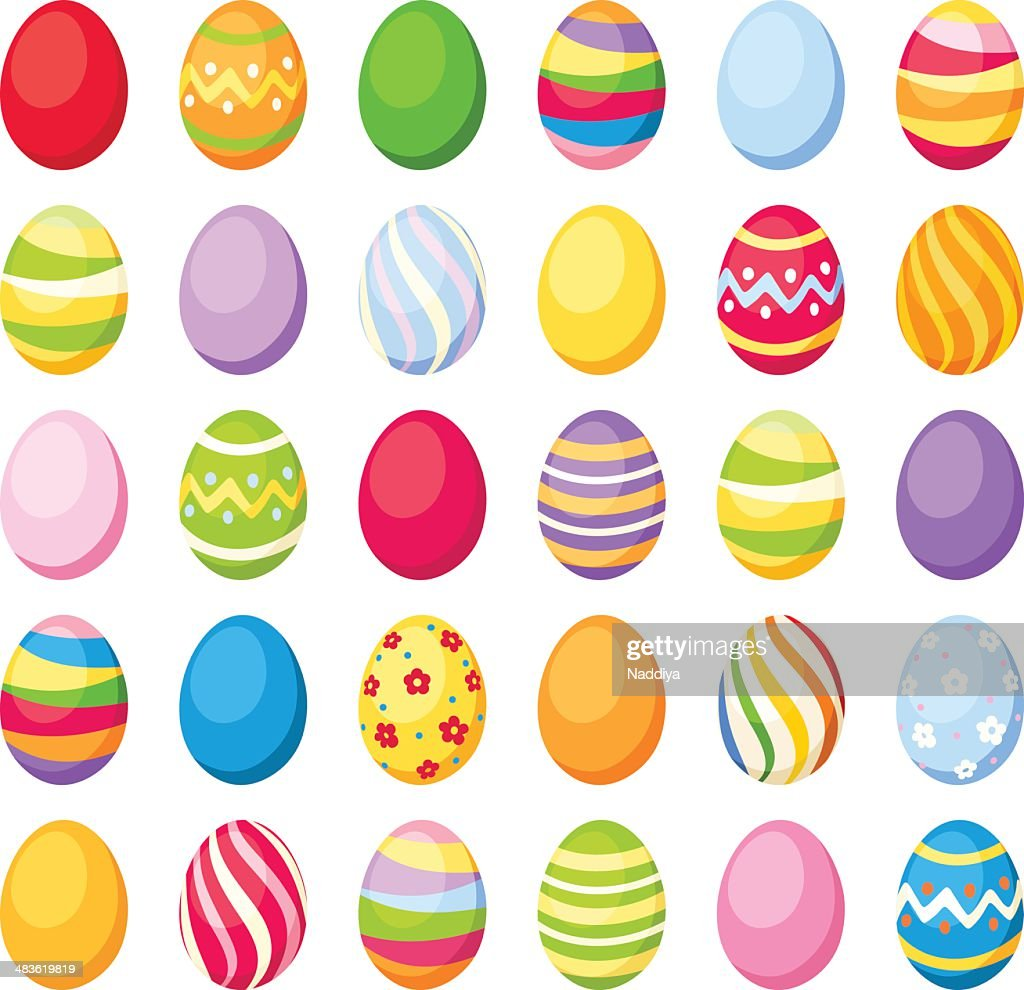 Easter colorful eggs. Vector illustration.