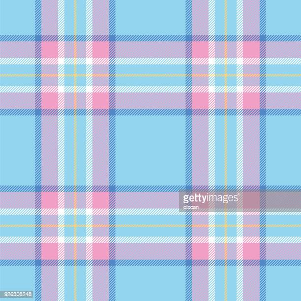 easter colors tartan seamless pattern - easter stock illustrations