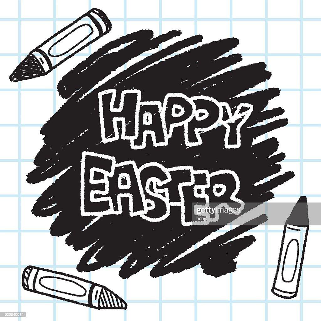 Easter decoration doodle