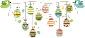 Easter decoration with birds