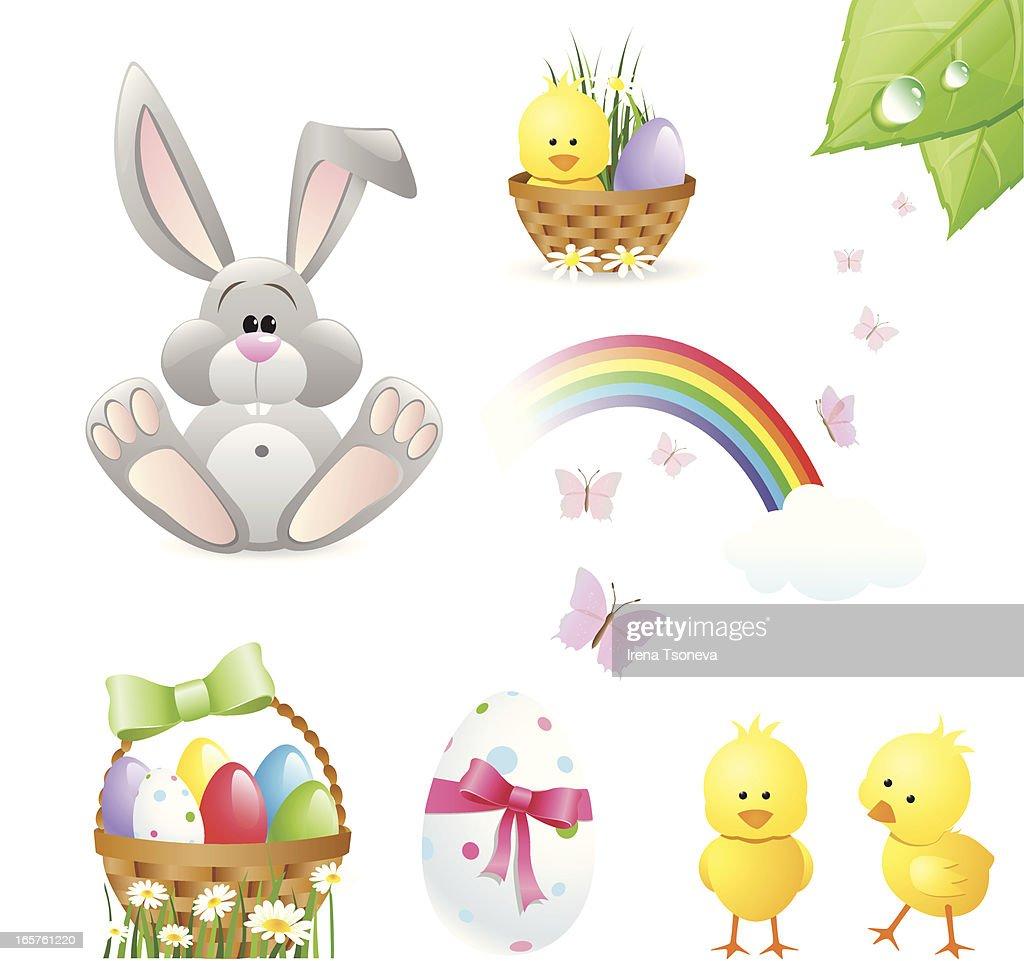 Easter Design Elements : stock illustration