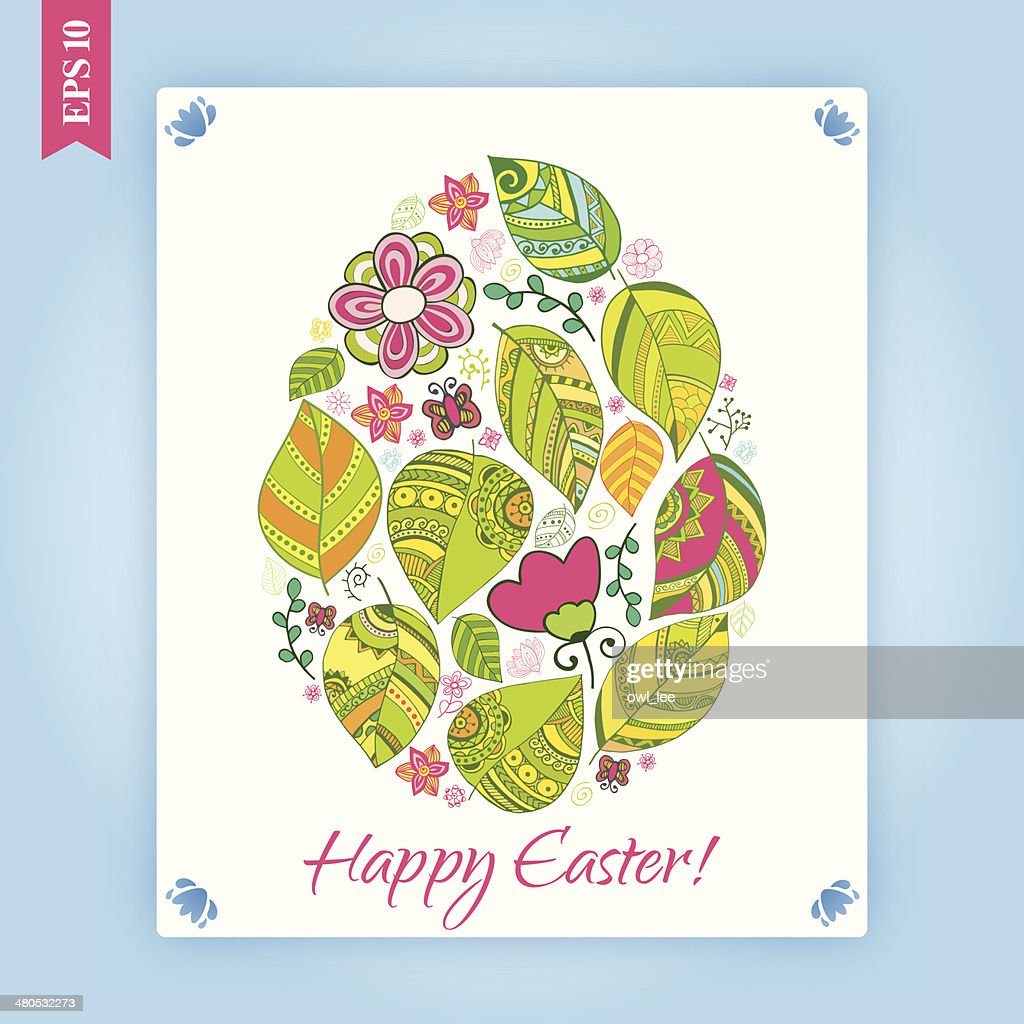 Easter egg background. : Vector Art