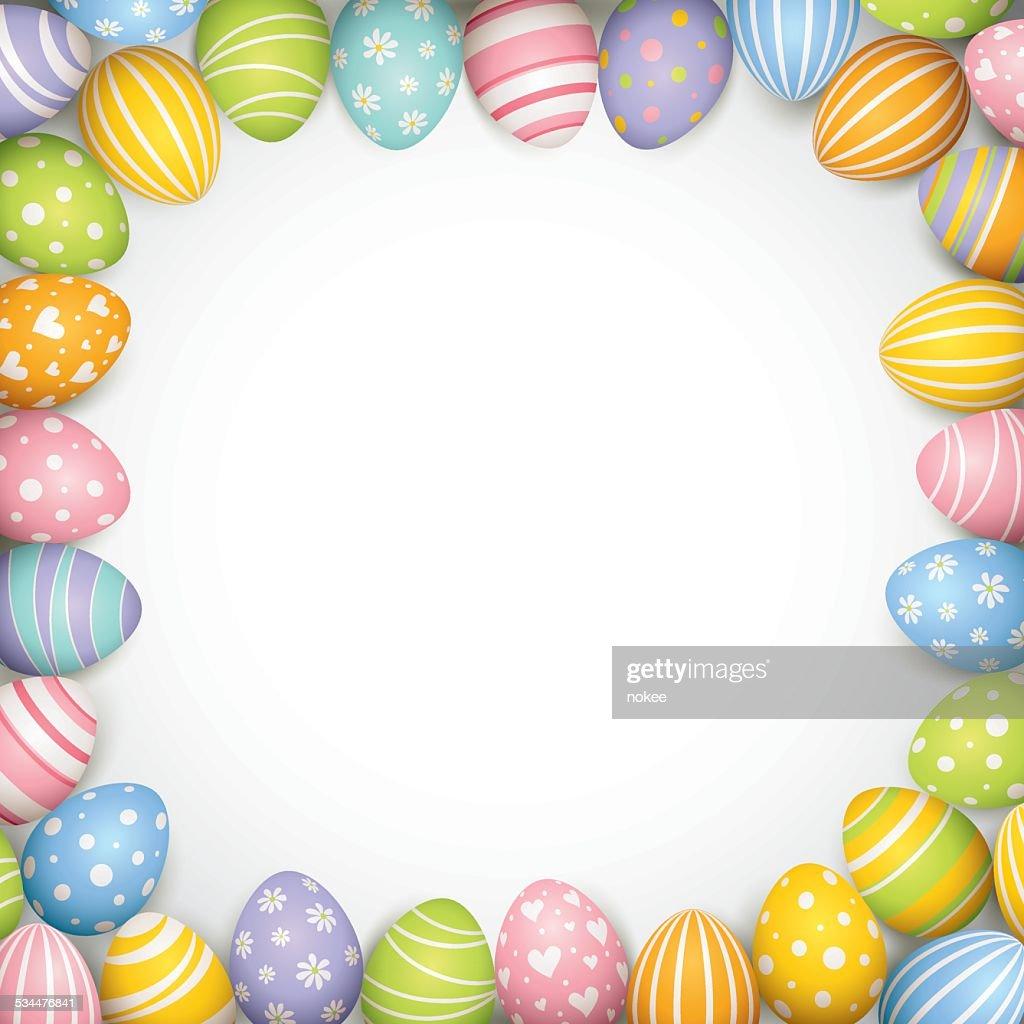 Easter Egg Border Vector Art