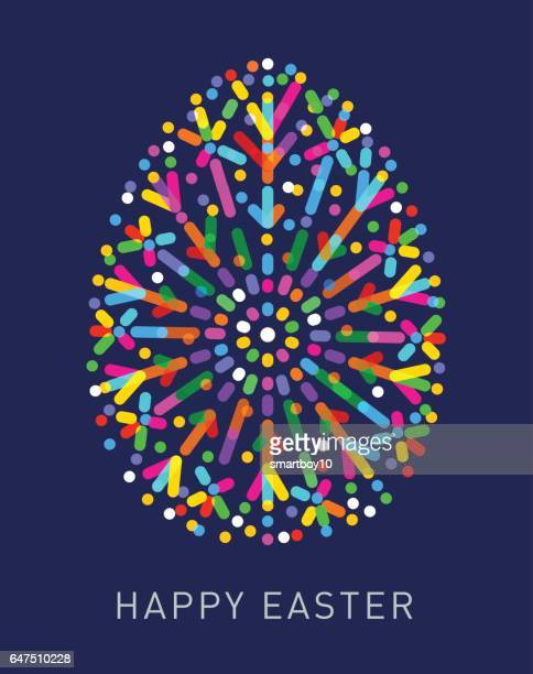 easter egg greeting - easter stock illustrations, clip art, cartoons, & icons