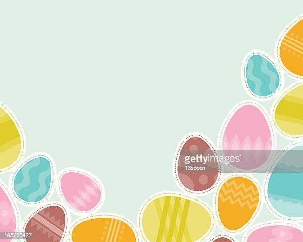 easter egg group - easter egg stock illustrations, clip art, cartoons, & icons