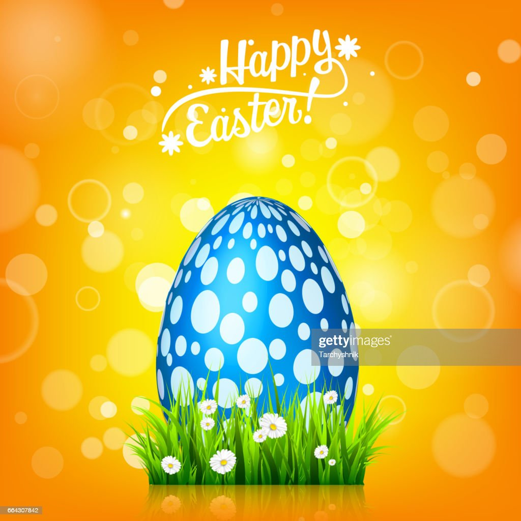 easter egg hunt orange yellow background april holidays flowers and grass