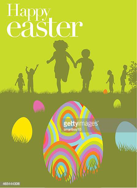 easter egg hunt - searching stock illustrations, clip art, cartoons, & icons