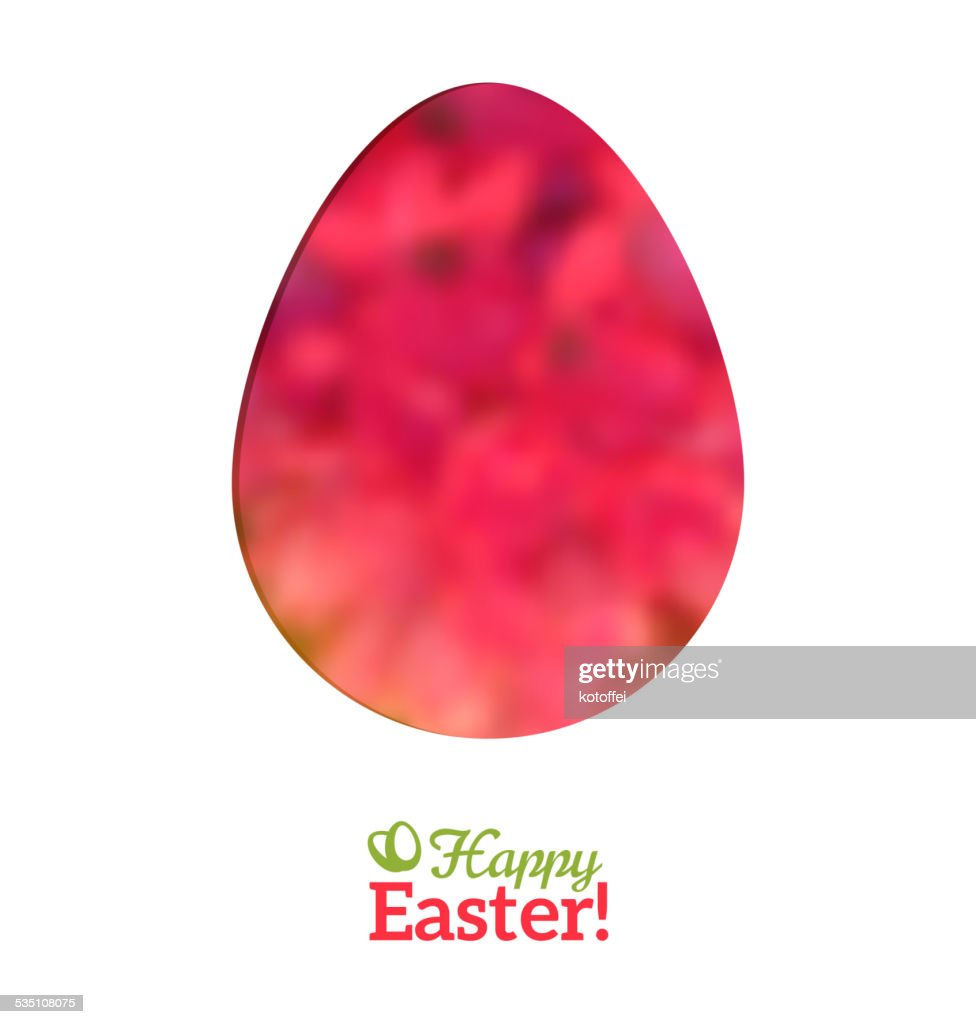 Easter Egg in Floral Minimalism Style