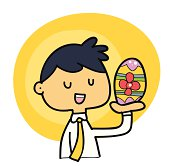 Easter egg in my hand