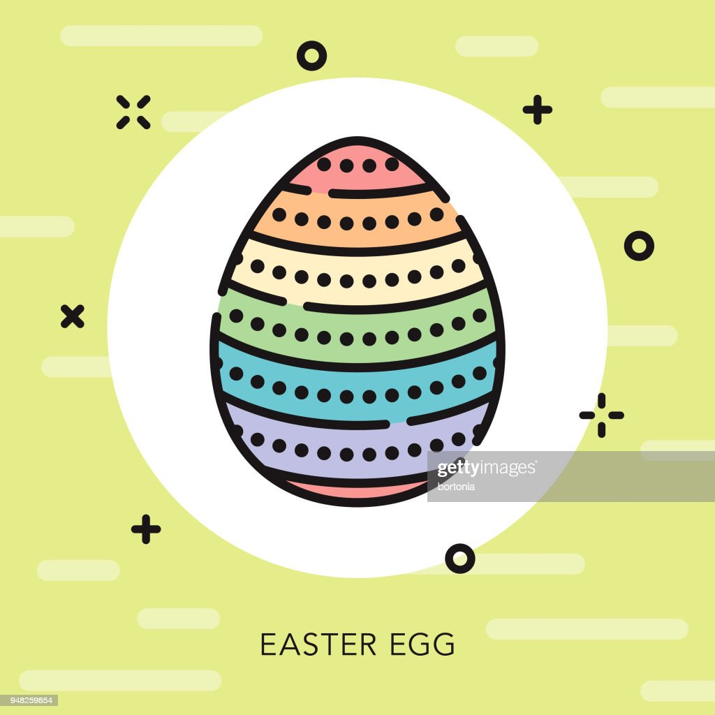 Easter Egg Open Outline Icon High Res Vector Graphic Getty Images