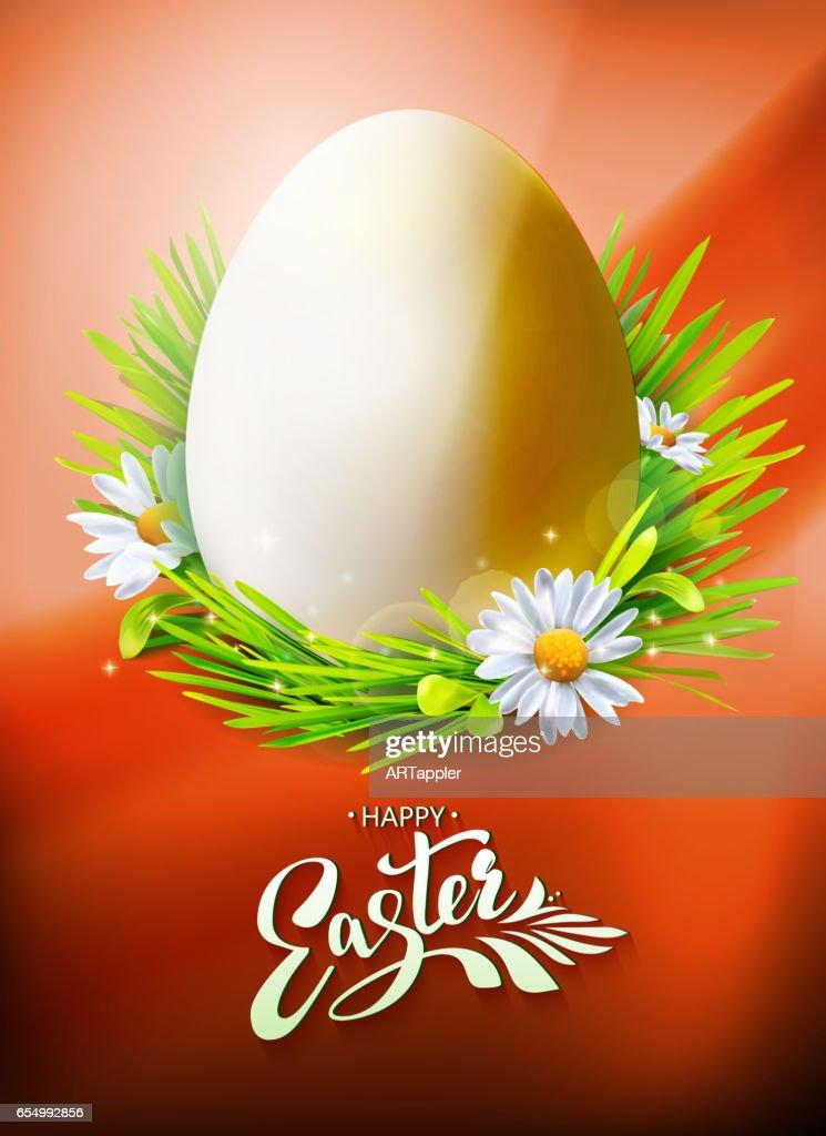 Easter Egg poster on orange