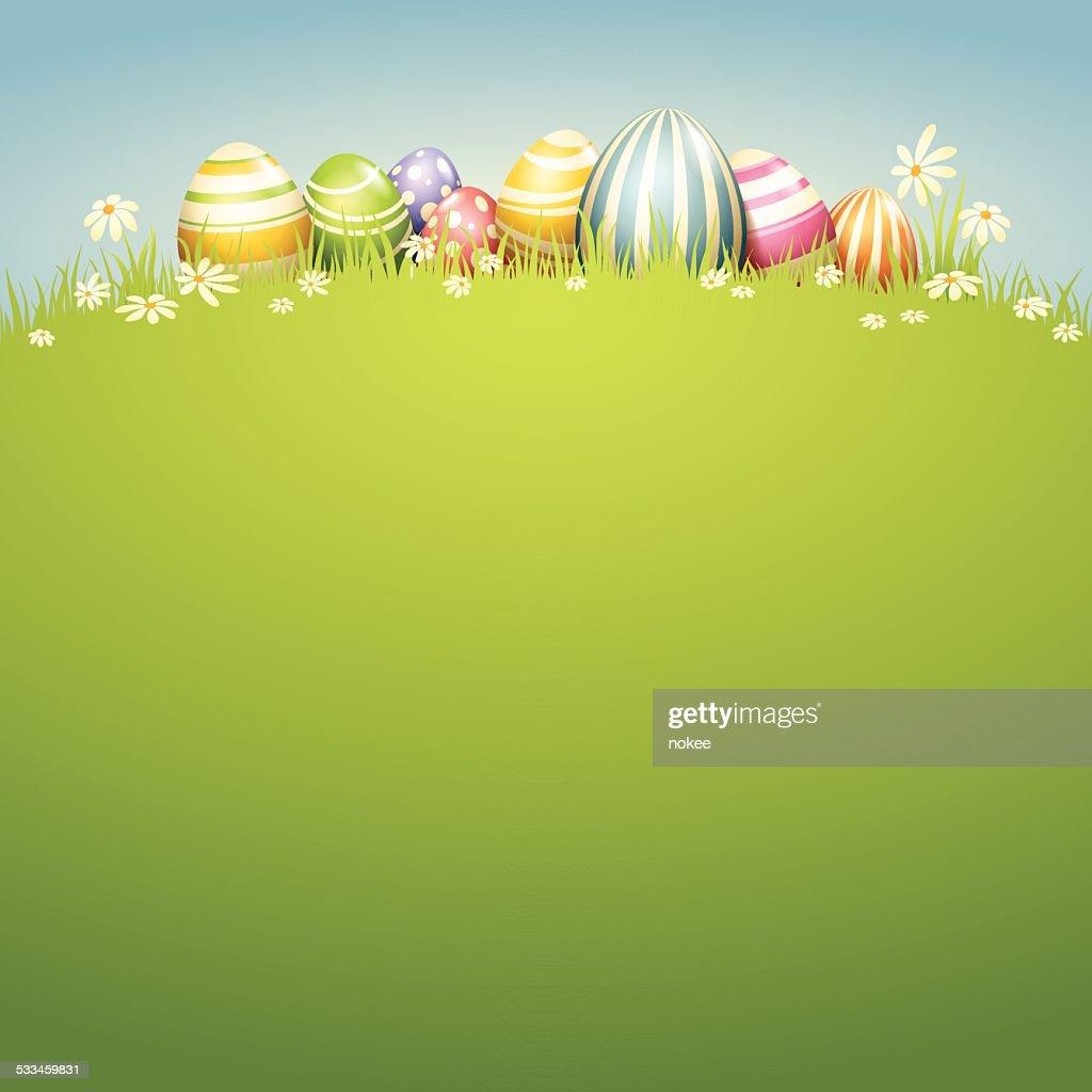 Easter Egg - Spring Field : Vector Art