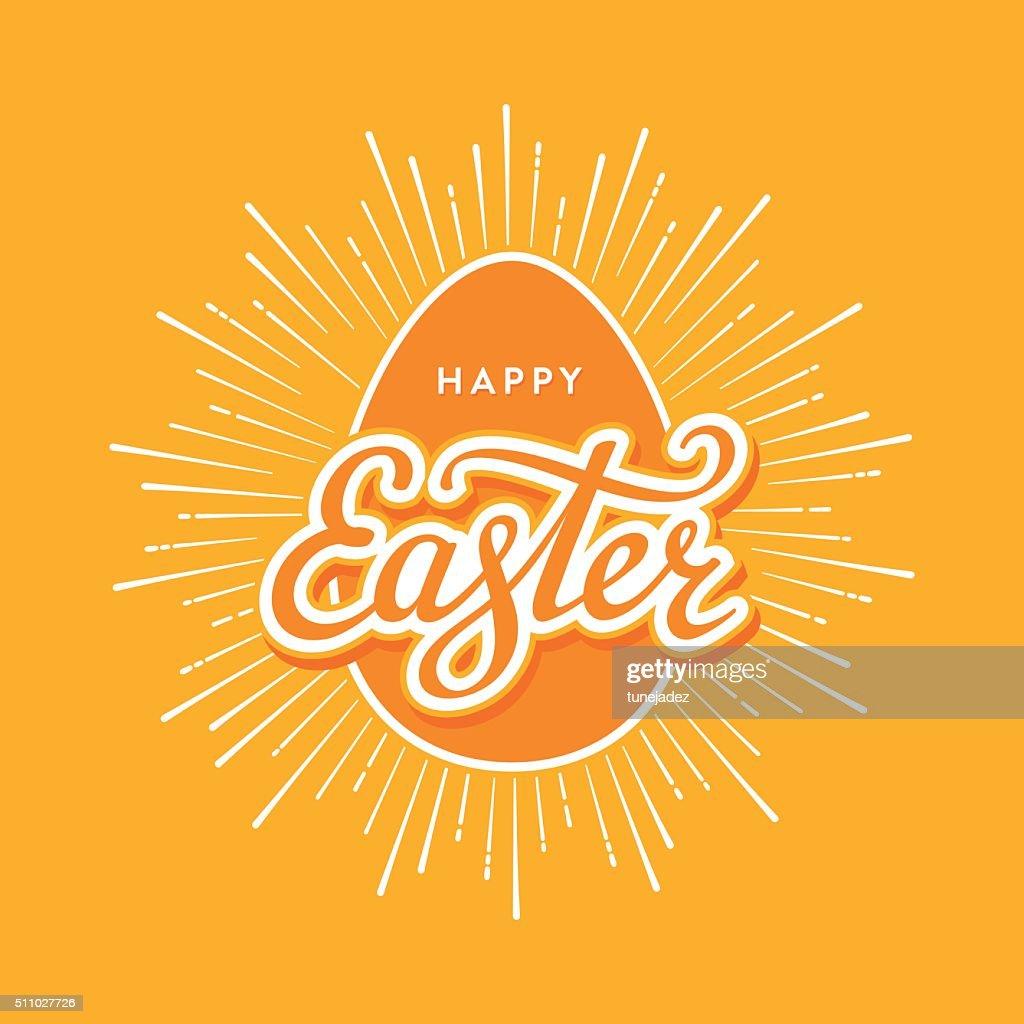 Easter egg starburst orange
