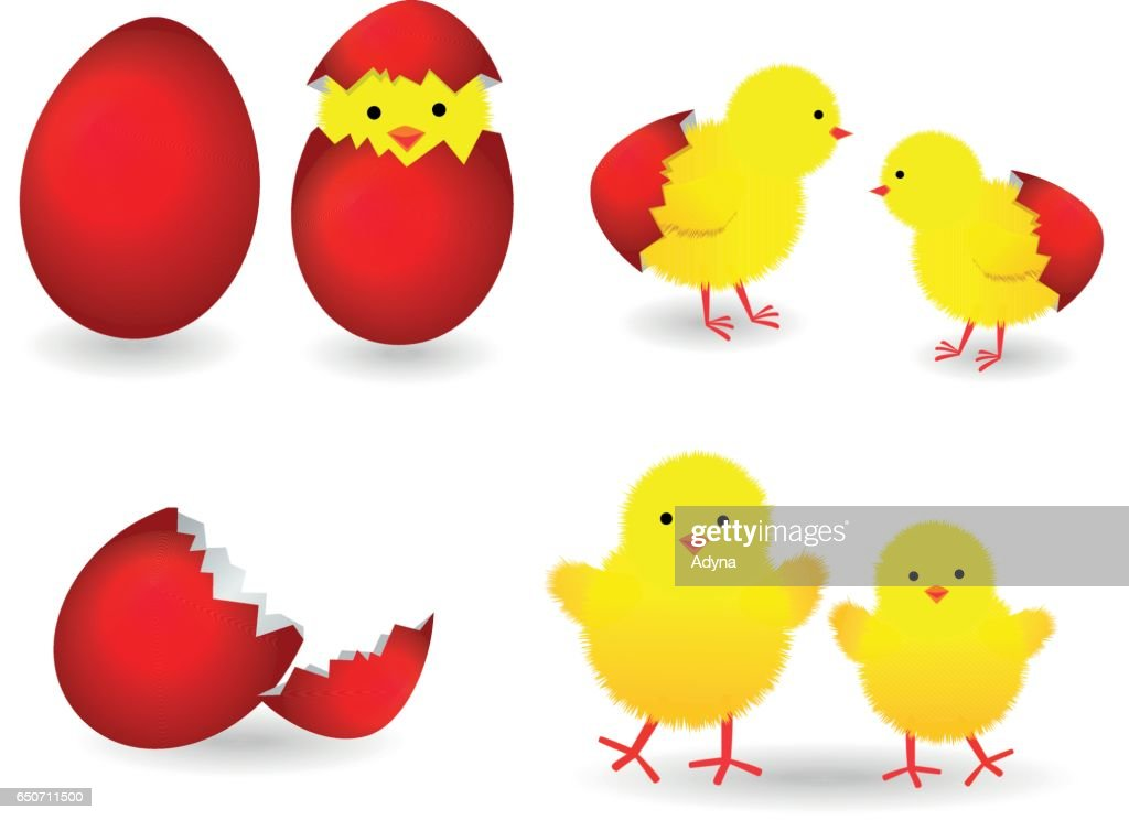 Easter Egg with Baby Chicks