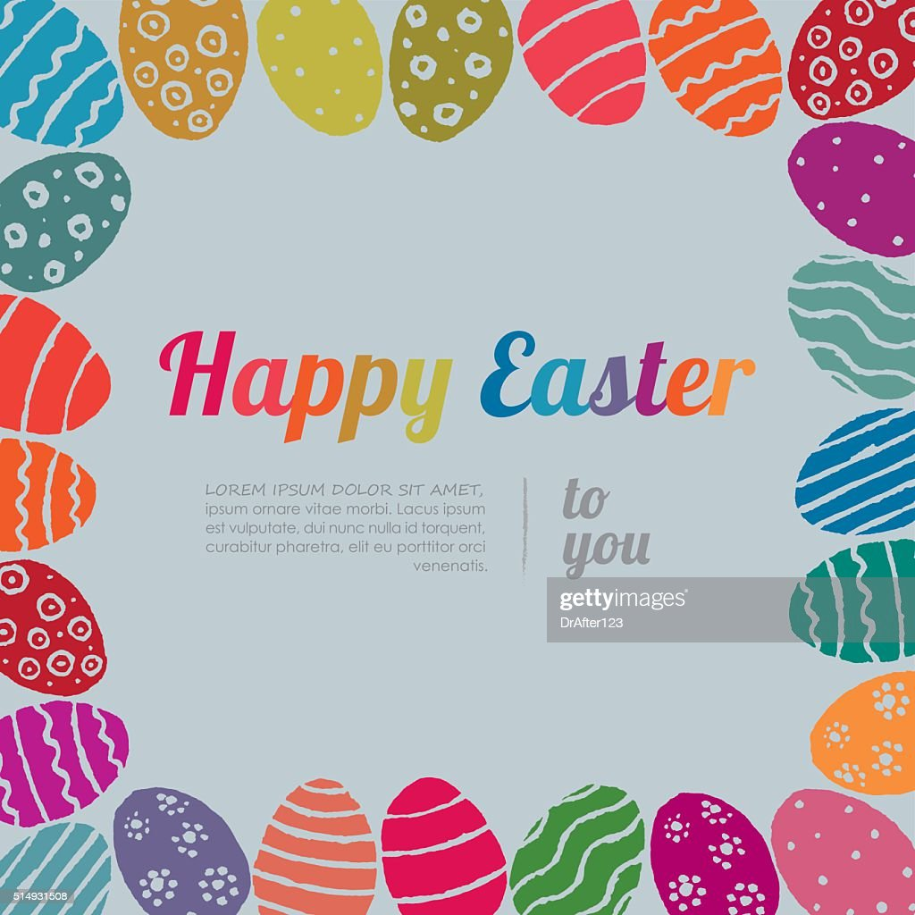Easter Eggs Frame Vector Art | Getty Images