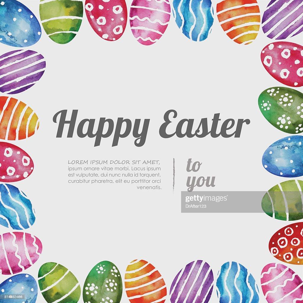 Easter Eggs Frame Vector Art | Getty Images