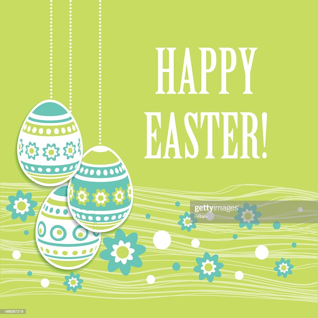 Easter eggs greeting card. Vector illustration : Vector Art