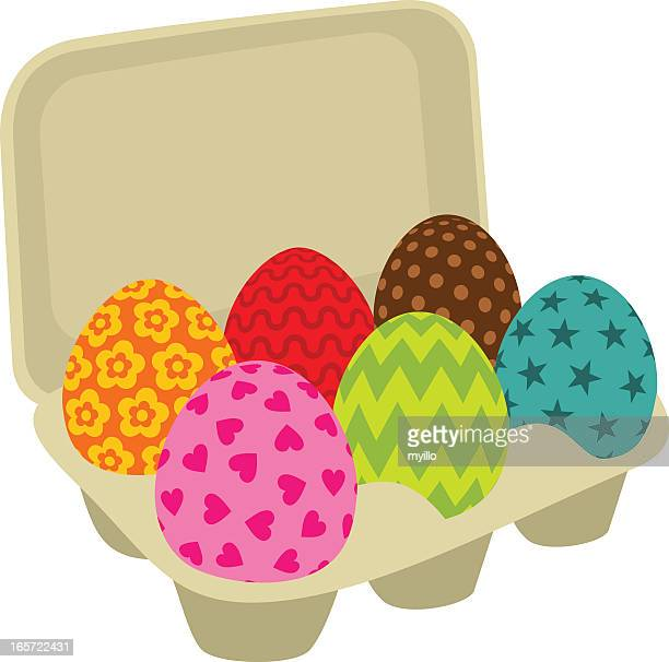 easter eggs. painted - animal egg stock illustrations, clip art, cartoons, & icons