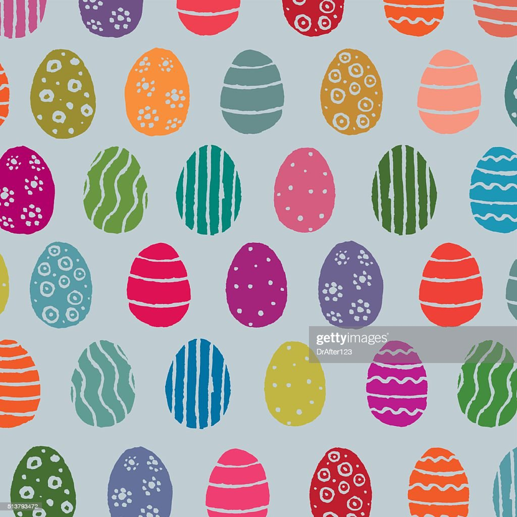 Easter Eggs Pattern : Vector Art