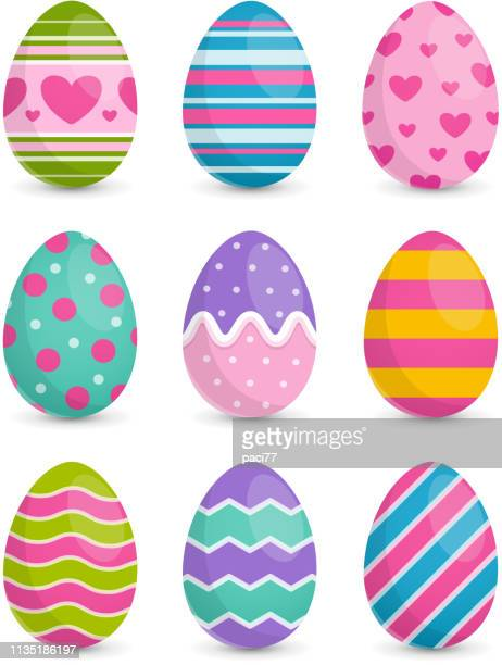 easter eggs - easter stock illustrations
